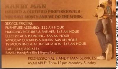 Larry F - Larry F - Handyman in New York City on Romio.com