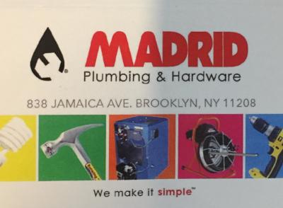Domingo Madrid - Madrid Plumbing & Hardware - General Services & Stores - in New York City Romio